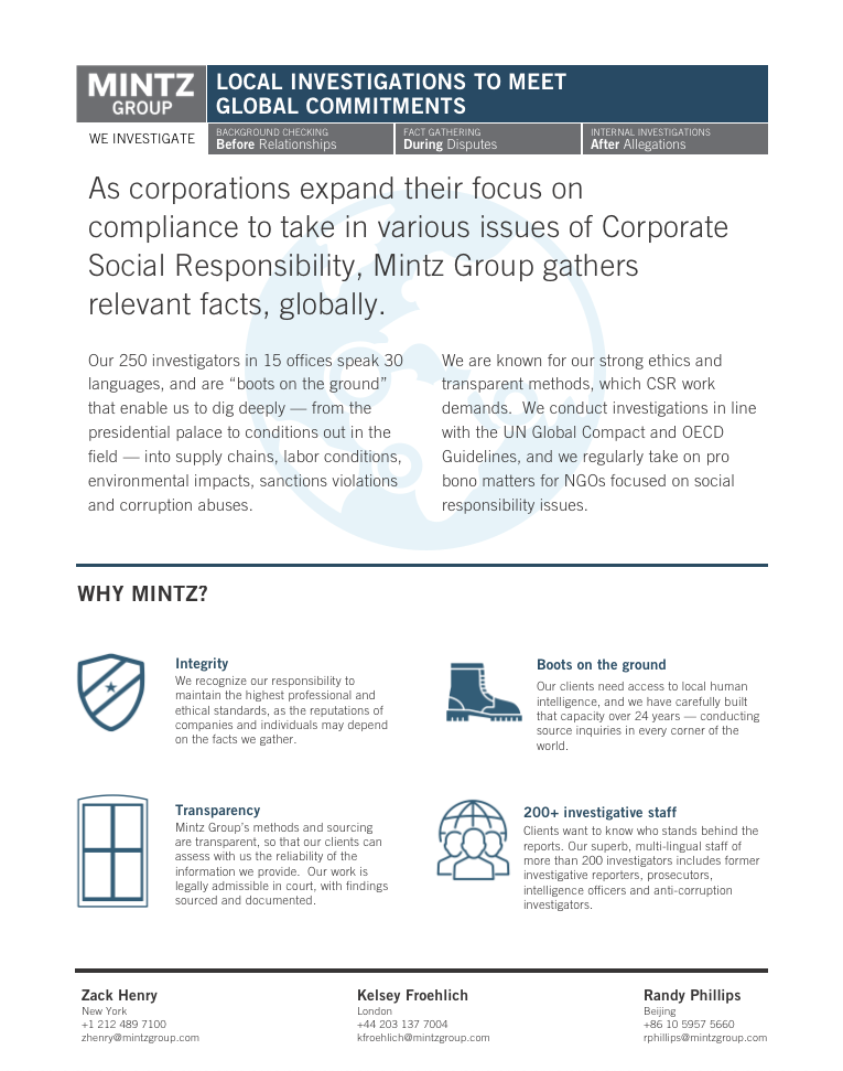 CSR one pager